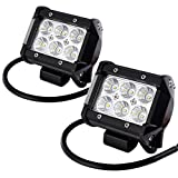 "Auxbeam® 4 Pcs 4"" 18W LED Work Light Bar CREE Chips Flood Beam 60 degree Waterproof for Off-road ATV SUV Jeep Boat 4WD ATV Auxiliary Driving Lamp"