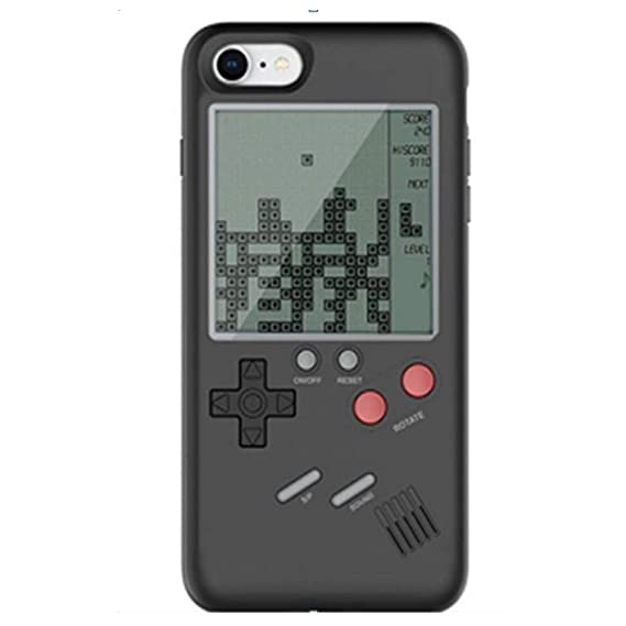 separation shoes edfeb 30a98 Kekll iPhone 7/8 Game Case Game-Boy Tetris iPhone Case Shell TPU Silicone  Protective Cover Retro Gameboy Case for iPhone 7/8 (Black)