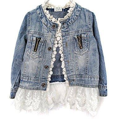 Giacca jeans elegante bambina
