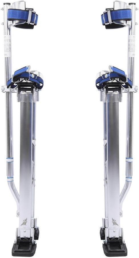 61-102cm Zancos de Trabajo Aleaci/ón de Aluminio Pesado para Alba/ñiles o Yeseros Herramienta de Pintor lyrlody Ajustable Pilotes de Drywall Zancos de Revestimiento Plateado