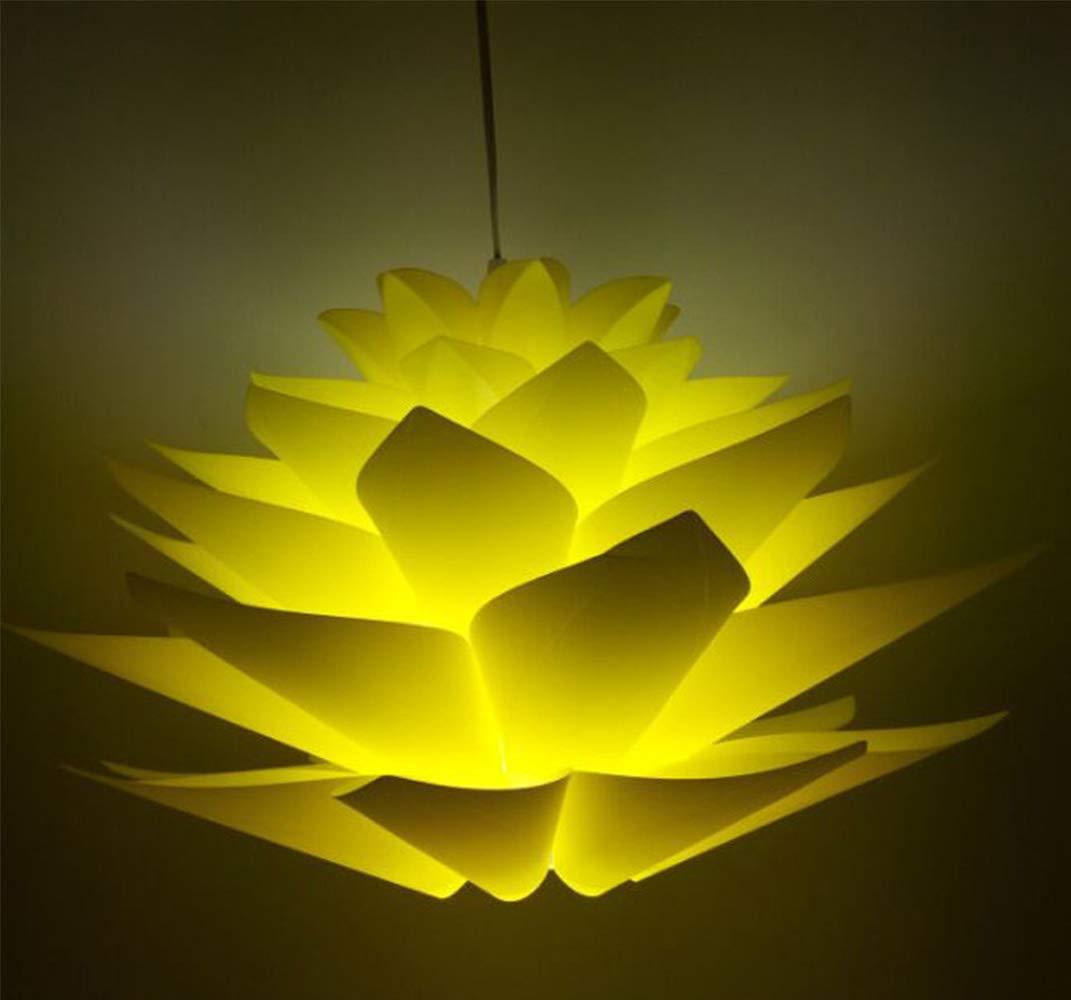Abat-jour puzzle Lotus Abat-jour IQ PP lampe Pendentif /à suspendre Suspension Lampes de Plafond Bedroon Salon Blanc