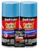 Dupli-Color Light Blue Metallic General Motors Exact-Match Automotive Paint - 8 oz, Bundles with Prep Wipe (3 Items)