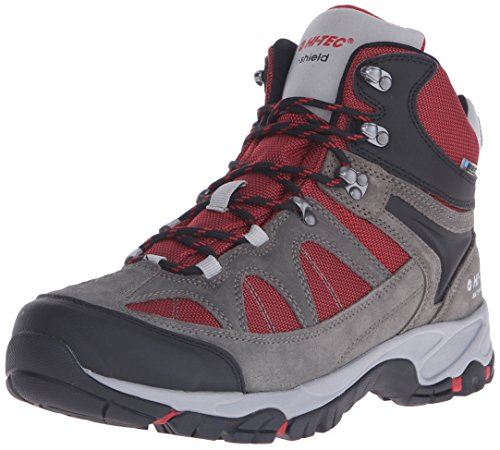 Hi-Tec Men's Altitude Lite I Waterproof Hiking Boot, Charcoal/Cool Grey/Red, 10 M US