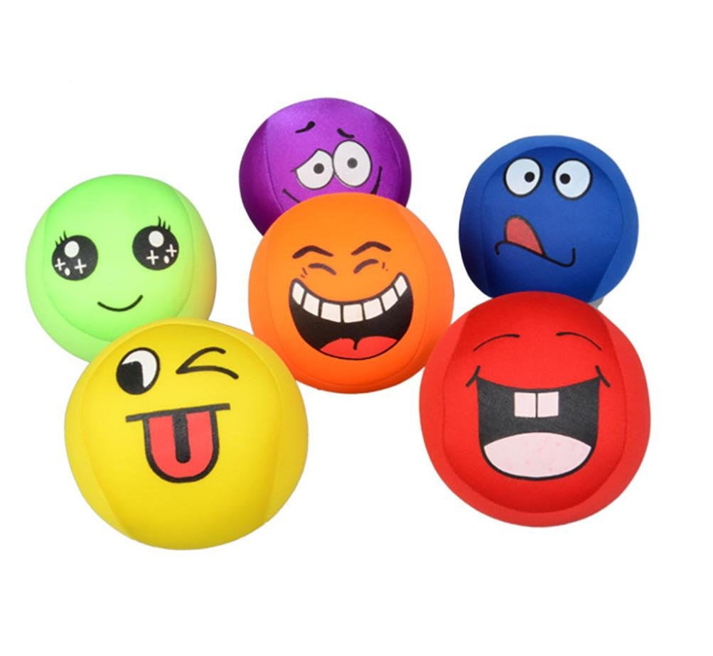 Squishy Toy, Naladoo 1 Pc Super Stretchy Stress Ball Smile All Kinds Expressions Face Squeeze Handball Toy for Kids IU32566436436