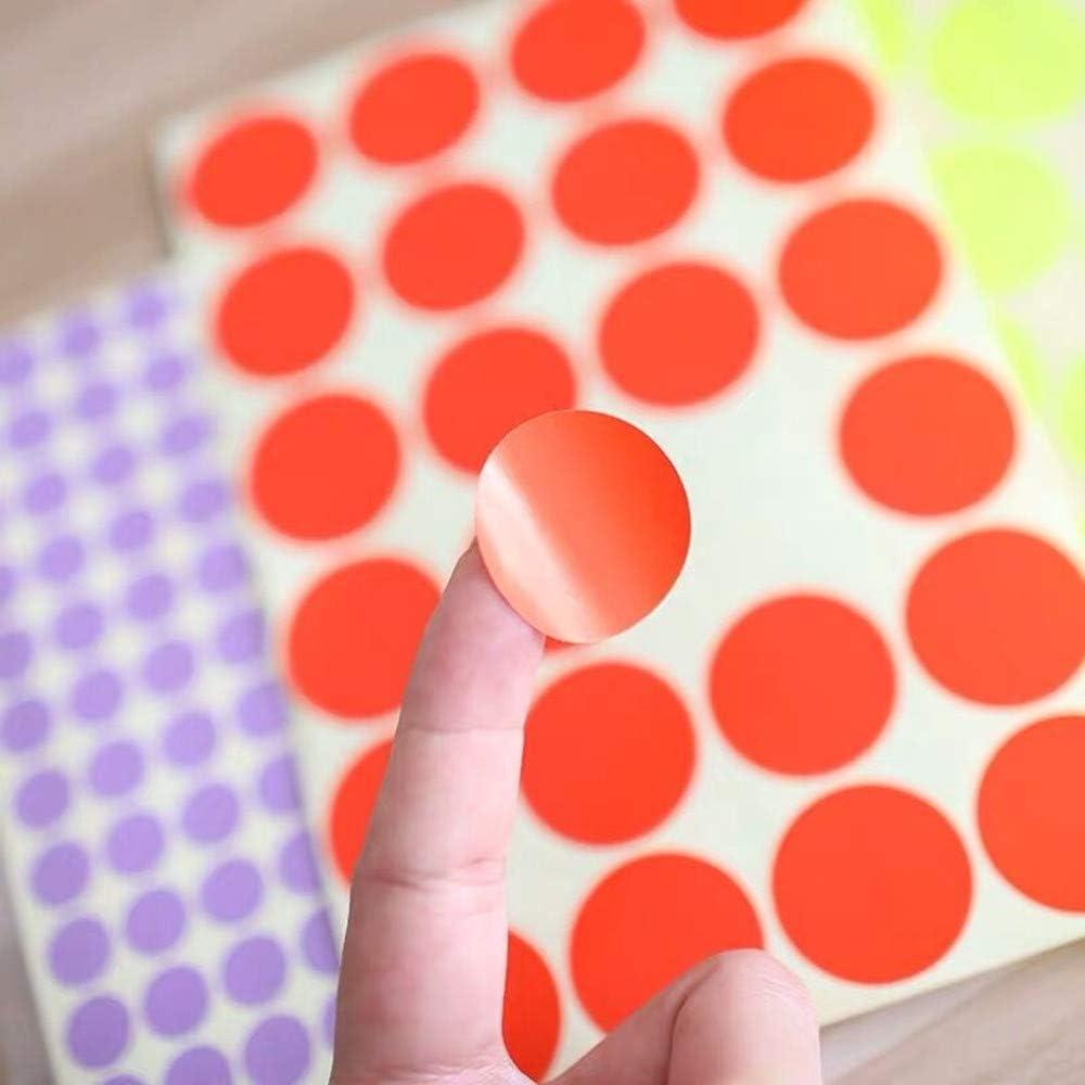 Yongbest Etiquetas Adhesivas Redondas,13 mm Pegatinas Adhesivos de Colores C/írculo Etiquetas Autoadhesivo para Suministros de Oficina en Hogar,16 Colores Surtidos