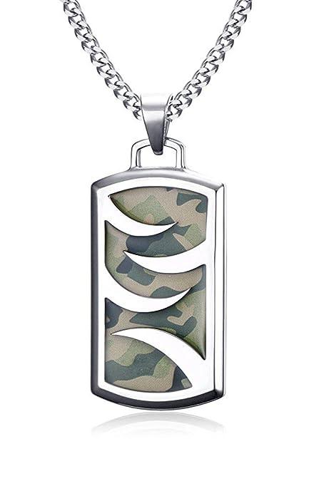 XBMEN Colgante, Collar de la Placa de identificación Militar ...