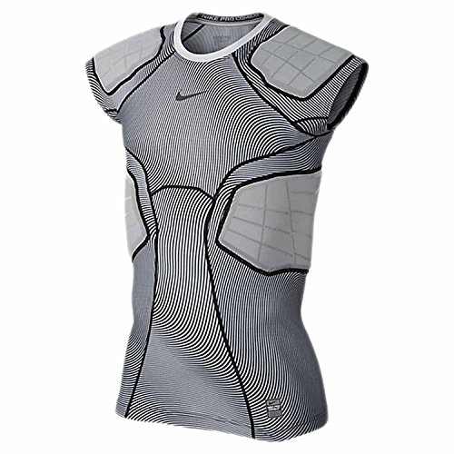 (Nike Men's Pro Hyperstrong 4 Pad Football Top-White-Medium)