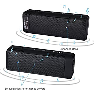 Portable Wireless bluetooth Speaker + Power Bank + FM radio:4000mah Battery 15+ Hours Playtime , Touch Control Patent Lock/Unlock design, Aux Input ,Microphone for Iphone ,Android phone ,Outdoor ,Car