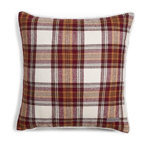 Eddie Bauer Edgewood Plaid Red Sherpa Decorative Pillow