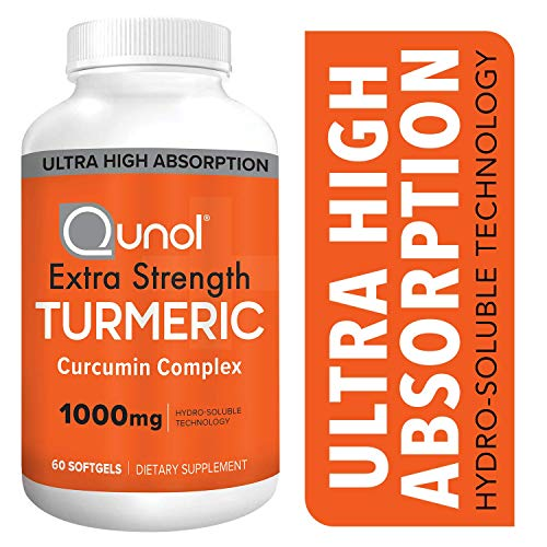 Turmeric Curcumin Softgels, Qunol with Ultra High Absorption 1000mg, Joint Support, Dietary Supplement, Extra Strength, 60 Count (Doctor's Best High Absorption Curcumin)