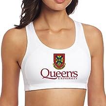 Women's Queen's University Racerback Yoga Sports Bra