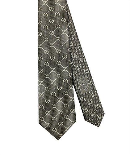 Gucci-Deiene-GG-Slim-Woven-Italian-Silk-Tie-275-7-CM-Gold-408865