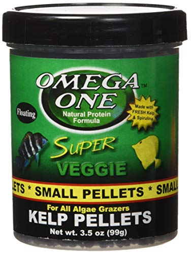 Pictures of Omega One Super Veggie Pellets Small 3.5oz SHOMHNK004 1