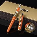 Regal the British Museum Commemoration Fountain Pen with Gift Box Set, Germany Iridium Medium Nib, Orange Signature Business Gift Pen