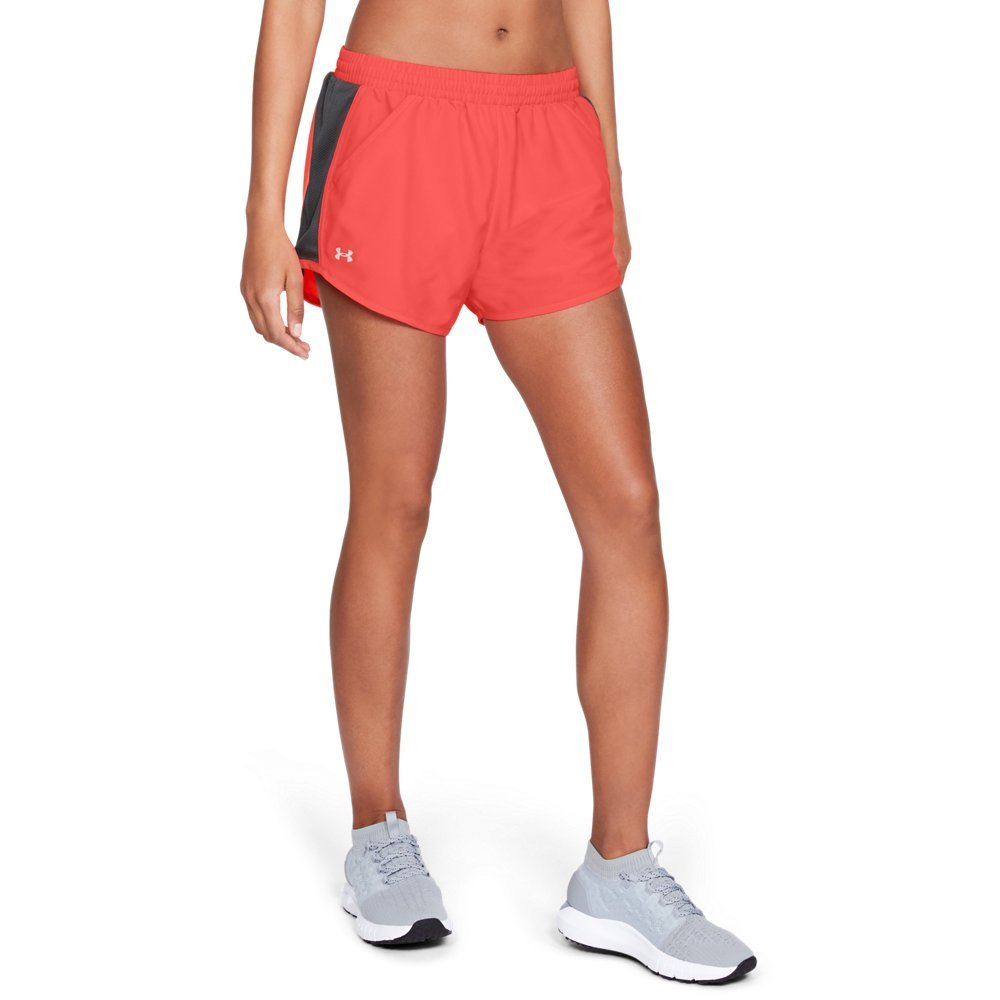 Under Armour Women's Fly-By Shorts, After Burn (877)/Reflective, X-Small