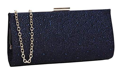 Party Navy Womens Diamante Prom Clutch SWANKYSWANS Blue Ladies Glitter Frances Wedding Bag 6TYHnWxpqw