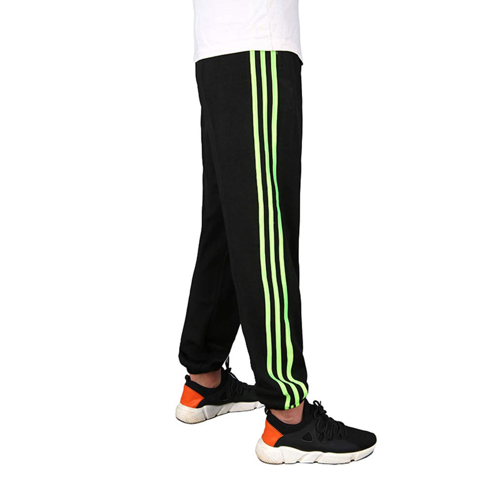 Fashion Middle Waist Loose Fit Trousers with Pockets Man Long Pants Sports Outdoor Casual Bottoms Sweatpants for Winter Autumn Size L-6XL hibote Mens Striped Pants