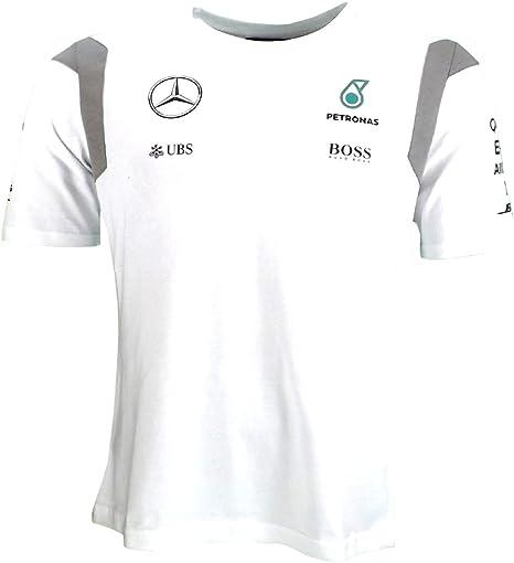 Mercedes AMG F1 Replica equipo controlador Puma camiseta blanca oficial 2016: Amazon.es: Deportes y aire libre