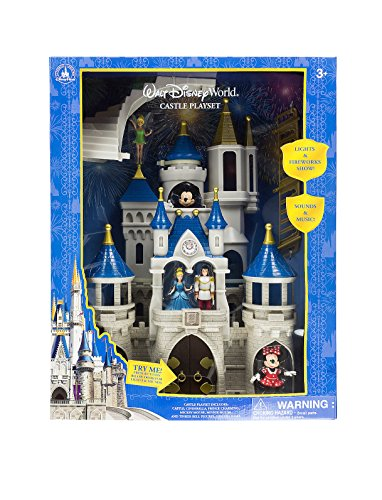 Walt Disney World Parks Cinderella Castle Large Playset Play Set Mickey - Disney Cinderella World Castle