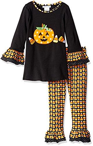 Bonnie Jean Little Girls' Holiday Dress and Legging Set , Black, 5]()