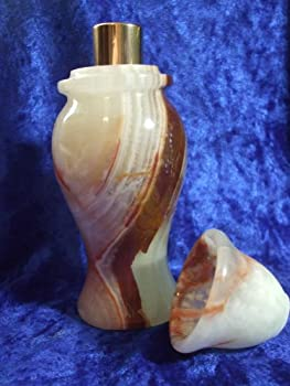 "Genuine Alabaster Box 5.5"" Tall w/ 20ML Spikenard Magdalena Perfume"