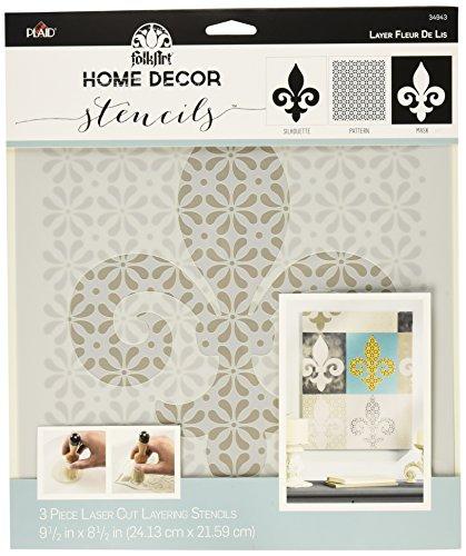 Fleur De Blocks Lis - FolkArt Home Decor Stencil, 34943 Fleur de Lis Mask