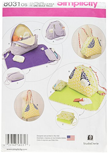 Simplicity Patterns Convertible Diaper Bags and Changing Pads Size: Os (One Size), ()