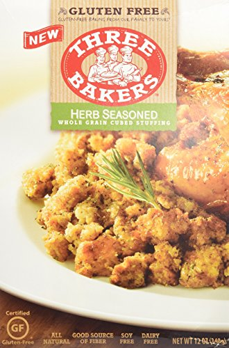 Three Bakers Stuffing Cubed Gf Hrb Whl, 12 oz., Pack of 4