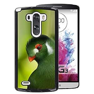 A-type Arte & diseño plástico duro Fundas Cover Cubre Hard Case Cover para LG G3 (Parrot Green Trees Tropical Bird Nature)