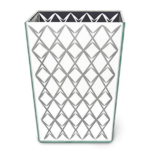 Kate Spade New York Fern Trellis Waste Basket Glass Bath -
