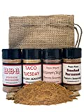 Premium POPCORN SEASONING (4 count) | BBQ, Taco Tuesday, Cinnamon Sugar and Smoked Parmesan | Crafted in Small Batches with Farm Fresh Spices for Premium Flavor and Zest