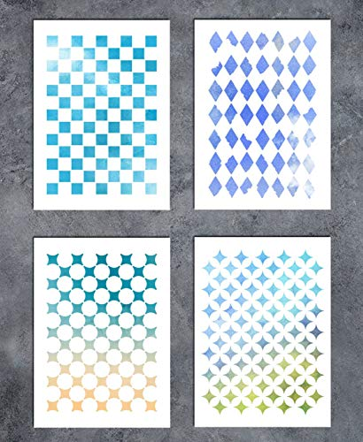 - Art Painting for Card Making Canvas Furniture (SL-023 Geometric Figure A5 GSS Designs Patterns Stencil Template Set(4 Pack) 15x21cm
