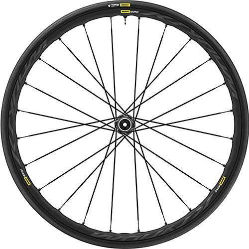 Mavic Ksyrium Rims (Mavic Ksyrium Elite Disc Road Front Wheel + Yksion Pro 700x25 Tire)