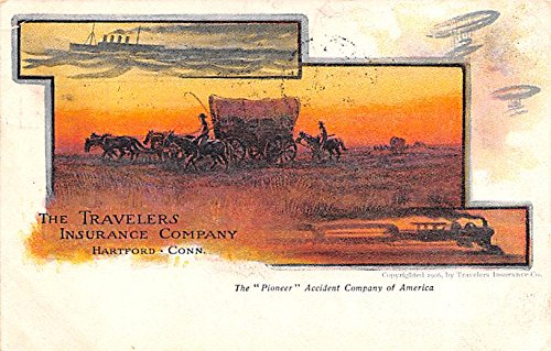Travelers Insurance Company Advertising Postcard