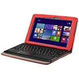 VSTN® Asus Transformer Book T100 Chi Tablet Keyboard Portfolio case - High quality Leather Keyboard Portfolio Stand Cover Case for Asus Transformer Book T100 Chi Tablet (Red)