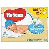 Huggies Pure Baby Wipes - 12 Packs (672 Wipes Total)