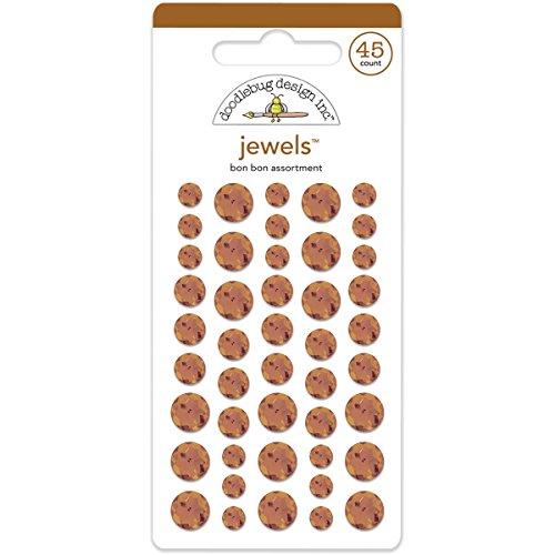 DOODLEBUG Adhesive Jewels 45/Pkg-Bon Bon