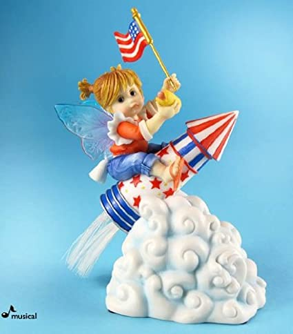 Superieur Enesco My Little Kitchen Fairies From Patriotic Rocket Fairie Musical 5.5 IN