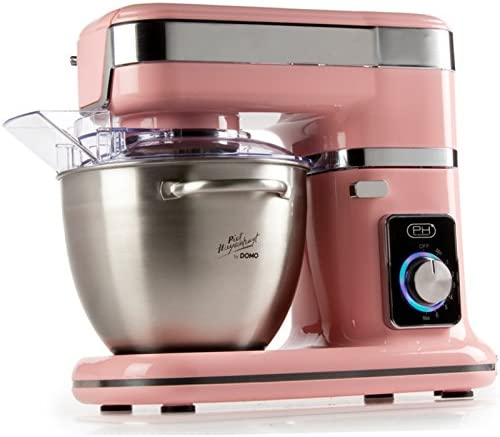 Domo DO9114KR 1000W 4.5L Rosa, Acero inoxidable - Robot de cocina (4,5 L, Rosa, Acero inoxidable, Giratorio, Acero inoxidable, 1000 W): Amazon.es: Hogar
