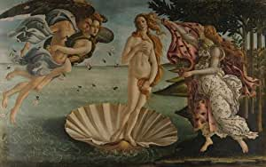 Perfect effect Canvas ,the Reproductions Art Decorative Prints on Canvas of oil painting 'Sandro Botticelli-The Birth of Venus,1486', 10x16 inch / 25x41 cm is best for Nursery gallery art and Home artwork and Gifts
