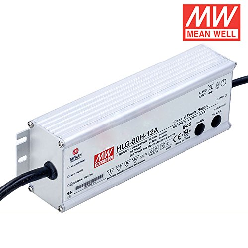 MEAN WELL LED driver HLG-80H-12A 60W 12V 5A adjustable AC//DC Power Supply with PFC