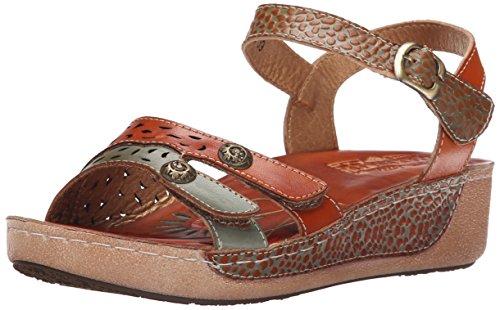 Sandal by Step Camel Freja L'Artiste Flat Multi Spring Women's wCxqdRgYR