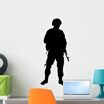 Amazoncom American Military Soldier Silhouette Wall Decal By