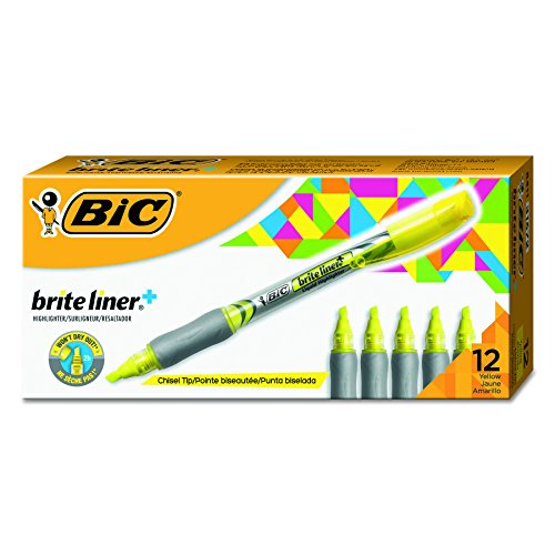 BIC Highlighter Chisel Yellow 12 Count