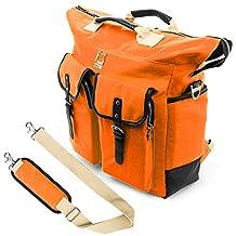 Lencca Universal Hybrid 3 in 1Design Carrying / Tote / Messenger / Crossbody / Backpack / Shoulder Bag for Apple Macbook Pro 15.4 / Acer / ASUS / Dell / Samsung / HP / Lenovo / Toshiba / MSI fit up to 15.6 inch Notebook / Google Chromebook / Ultrabook / Laptop (Orange)