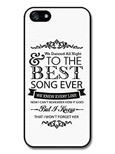 AMAF ? Accessories One Direction Harry Styles Niall Horan Best Song Ever Lyrics case for iPhone 5 5S