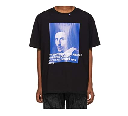 75c9b19ad59 Off White c o Virgil Abloh Black BERNINI Business Casual Designer T ...