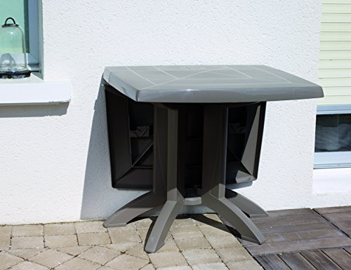 GROSFILLEX Vega Table, Taupe, 118 x 77 x 72 cm