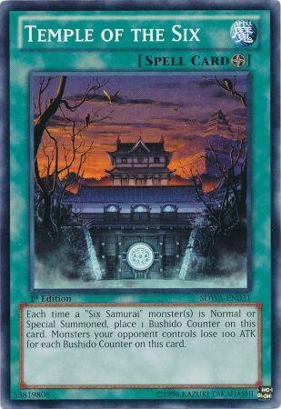 Yu-Gi-Oh! - Temple of the Six (SDWA-EN031) - Structure Deck: Samurai Warlords - 1st Edition - Common