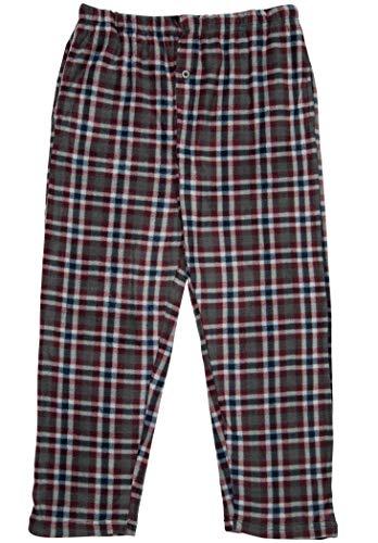 Plaid Micro Fleece Pajama Pants-1225B-Design8-10-12 ()